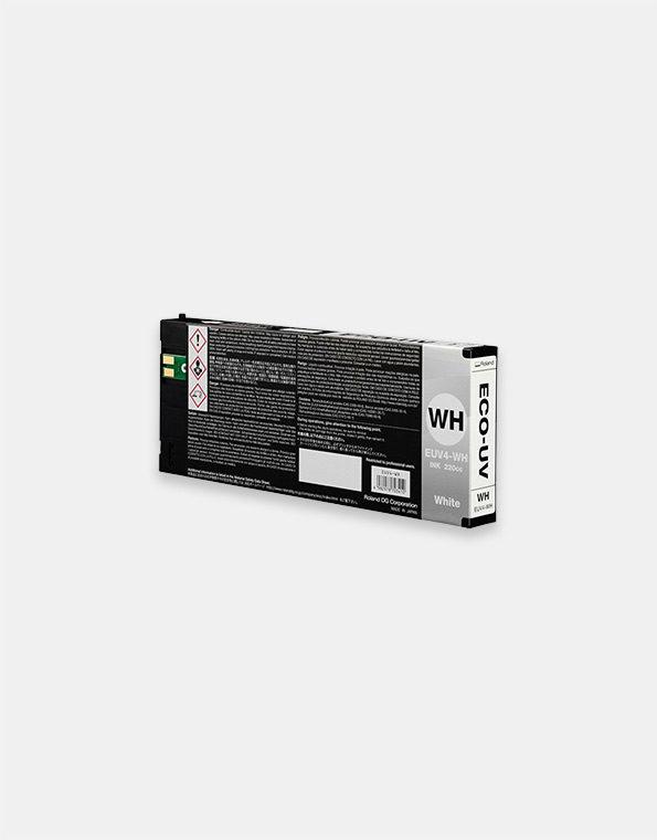 EUV4-WH-Cartuccia-Roland-ECO-UV-WHITE-220cc